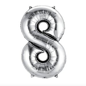 "Foil Balloon Number 32"" (Silver)"