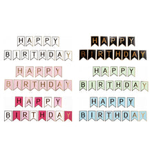 Load image into Gallery viewer, Happy Birthday Banner with Gold Print (Small)