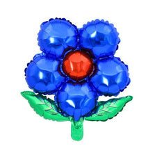 Load image into Gallery viewer, Foil Balloon Flower with Leaves 16""