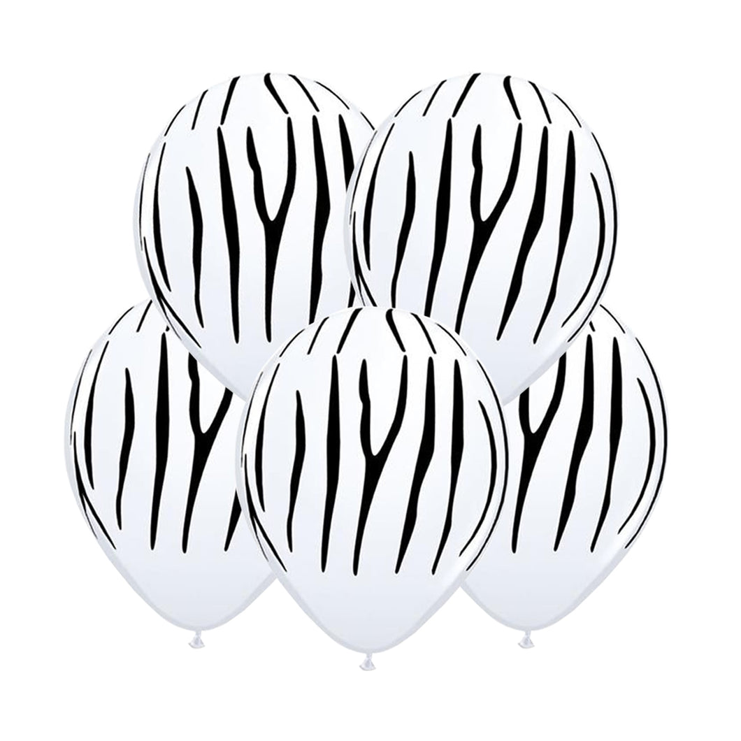 Animal Print Balloons - Zebra 12