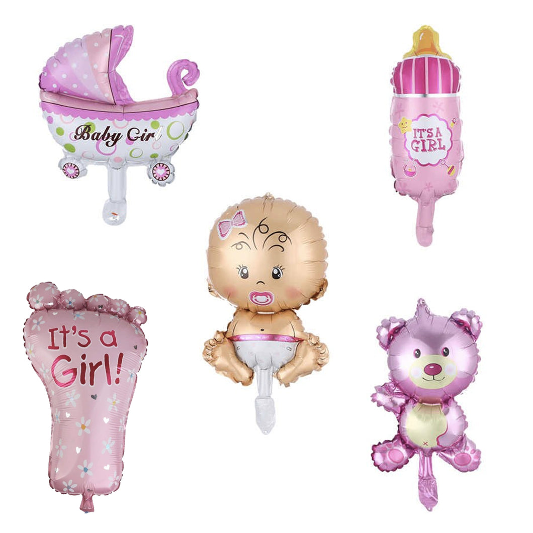 Foil Balloons Baby Shower Set (Girl)