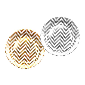 Paper Plates with Chevron Print (Set of 10 pcs)