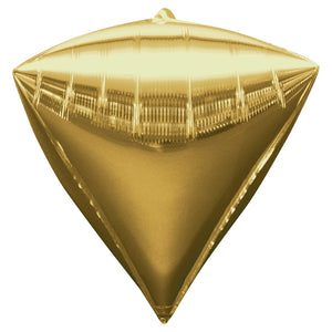 Foil Balloon Diamond Gold 18""
