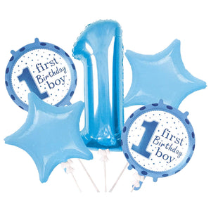 Foil Balloons 1st Birthday Boy with Stars