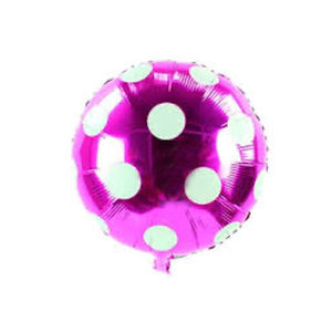Foil Balloon with Polka Dots