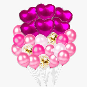 Large Valentine's Day Helium Set (Pink)
