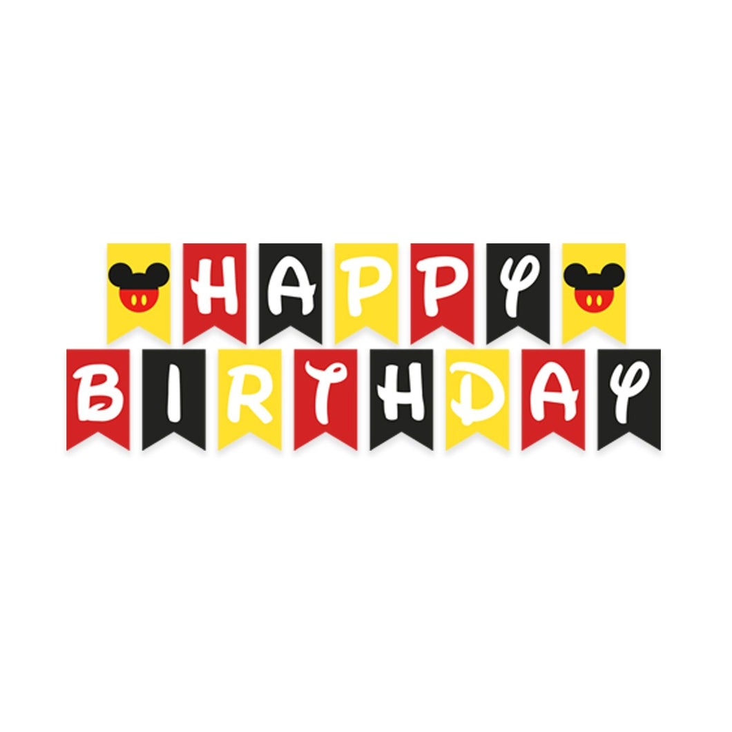 Happy Birthday Banner - Mickey Mouse