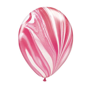 "Marble Balloon 12"" Red (5 pcs)"