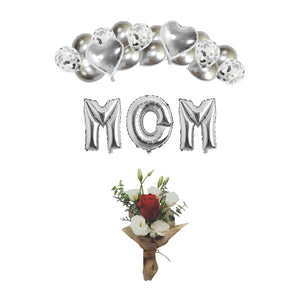 Mom's The Best! - Mother's Day Set (with Flowers)