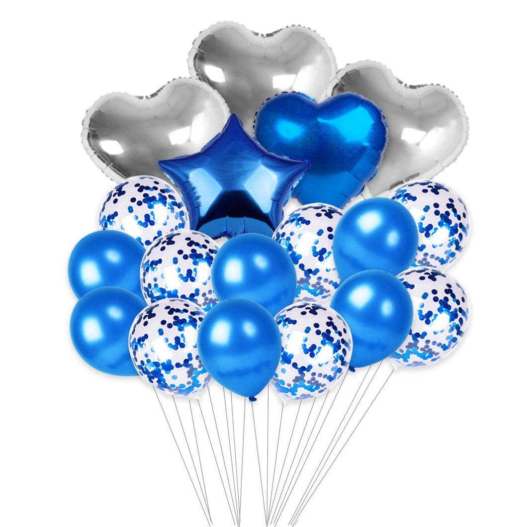 Small Valentine's Day Helium Set (Blue)