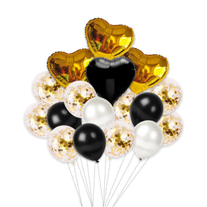 Small Valentine's Day Helium Set (Black and Gold)