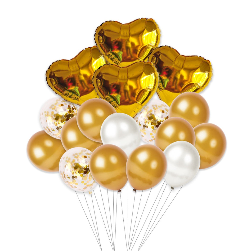 Small Valentine's Day Helium Set (Gold)