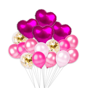 Small Valentine's Day Helium Set (Pink)