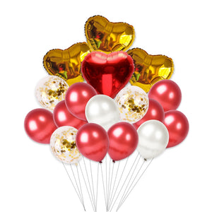 Small Valentine's Day Helium Set (Red)