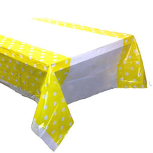 Load image into Gallery viewer, Plastic Table Cover with Polka Dots