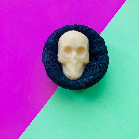 BLACK MAGIC - Triple Chocolate Vegan Skull Cookies