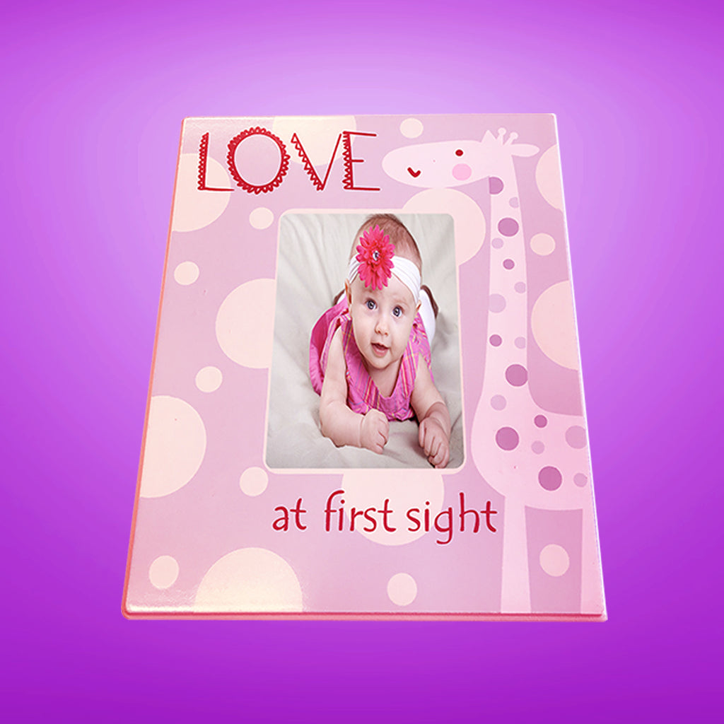 LOVE at First Sight Picture Frame Pink