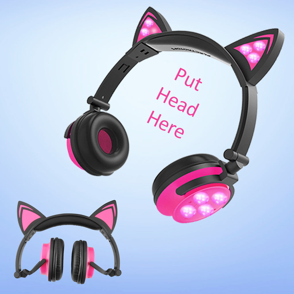 Light Up Pussy Cat Wireless Headset