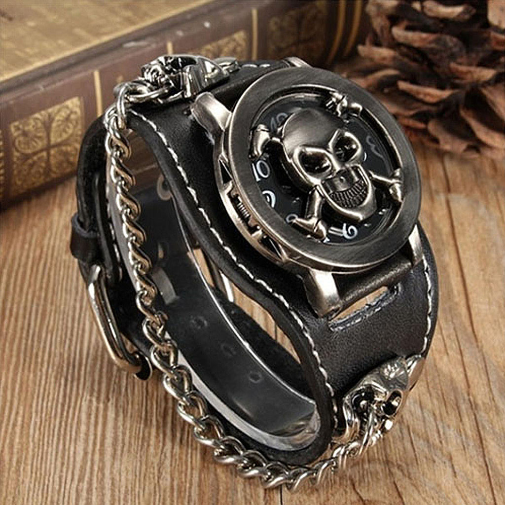Retro Goth, Skull & Chain Watch