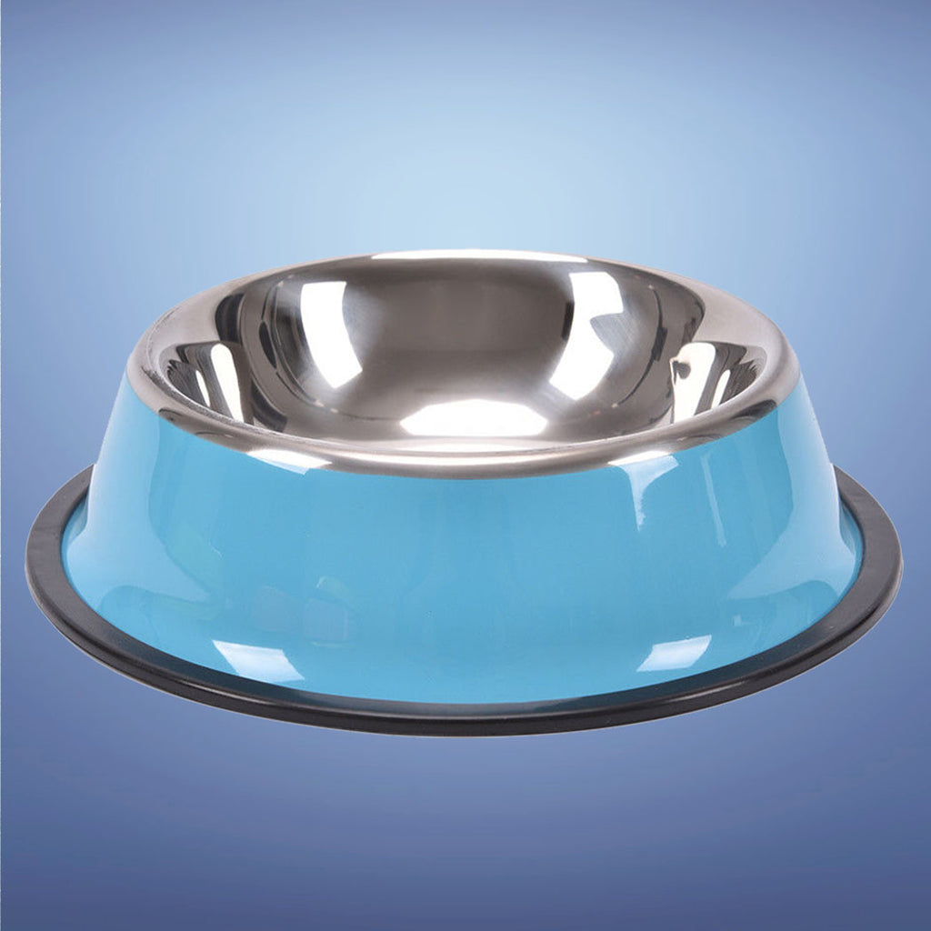 Groovy Stainless Steel Bowl Blue