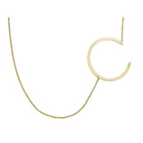 Ari&Lia 14K Kids Name Necklace Kids 14K Block Initial Necklace