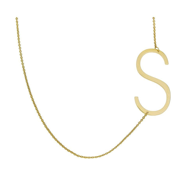 Ari&Lia 14K Name Necklace 14K Block Initial Necklace