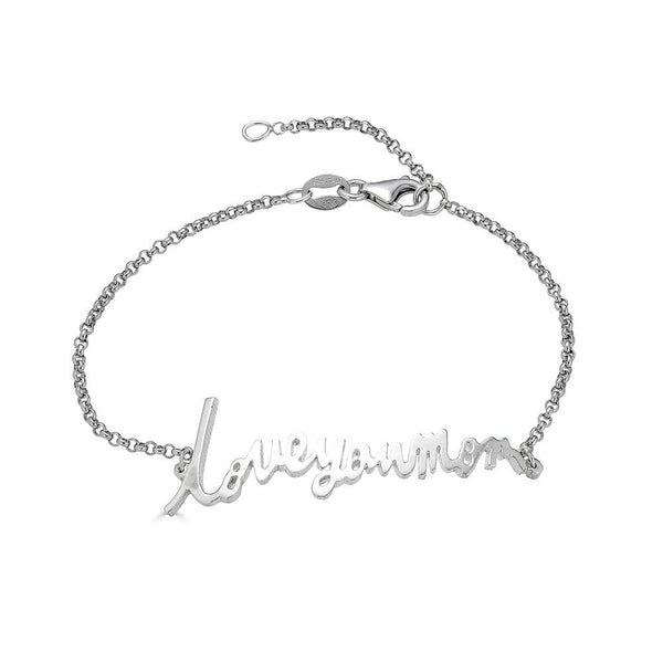 Ari&Lia 14K Bracelets 14K White Gold 14K Personalized Signature Name Bracelet NB5047-14K-WG