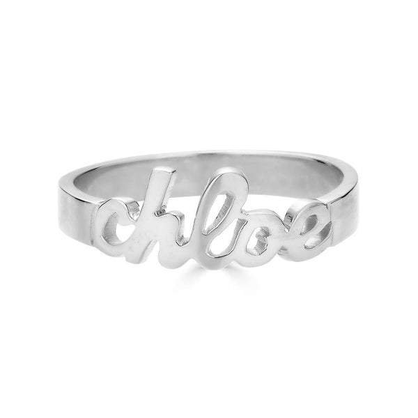 Ari&Lia 14K Name Rings 14K White Gold 14K Mini Script Name Ring 11014-14K-YG