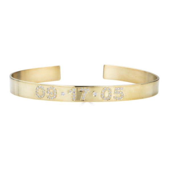 Ari&Lia 14K Bracelets 14K Yellow Gold 14K Customize Cz Bangle ZB5036-CZ-14K-YG