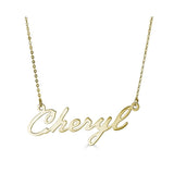 Ari&Lia 14K Name Necklace 14K Yellow Gold 14K Single High Polish Script Name Necklace NP91114-14K-YG