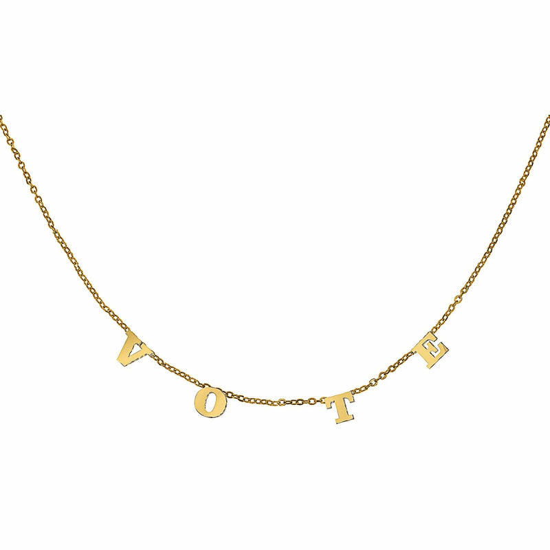 Ari&Lia 14K Name Necklace 14K Yellow Gold 14K Trending Vote Necklace