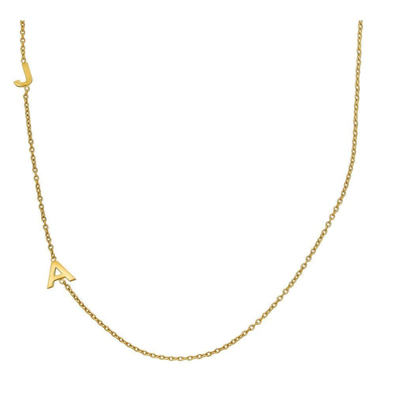 Ari&Lia 14K Name Necklace 14K Yellow Gold 14K Vertical Initial Necklace NP90655-14K-YG