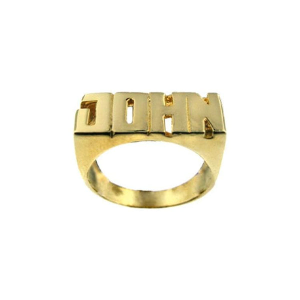 Ari&Lia 14K Name Rings 14K Yellow Gold 14K Block Letter High Polish Name Ring NR90628-14K-YG
