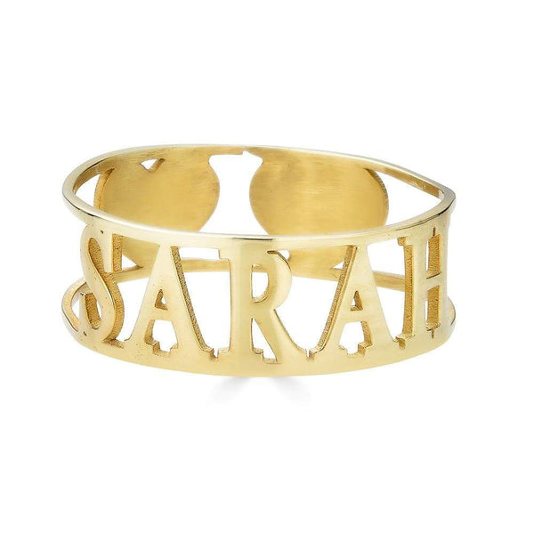 Ari&Lia 14K Name Rings 14K Yellow Gold 14K Cut Out Love Ring NR91501-14K-YG