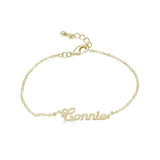 Ari&Lia Delicate 18K Gold Over Silver Script High Polish Name Bracelet NB90580-GPSS