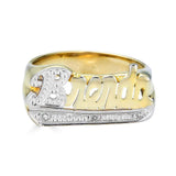 Ari&Lia Name Rings 18K Gold Over Silver Script Name Ring With Diamond Accent NR90623-GPSS