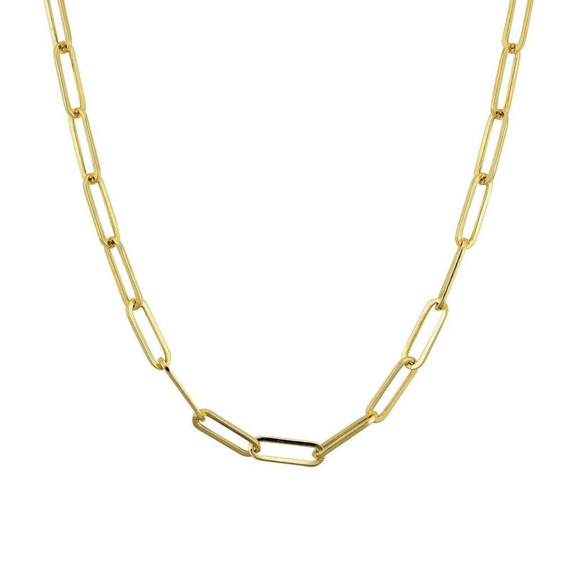 Ari&Lia PAPERCLIP COLLECTION 18K Gold Over Silver Paper Clip Link Chain PPC-GPSS