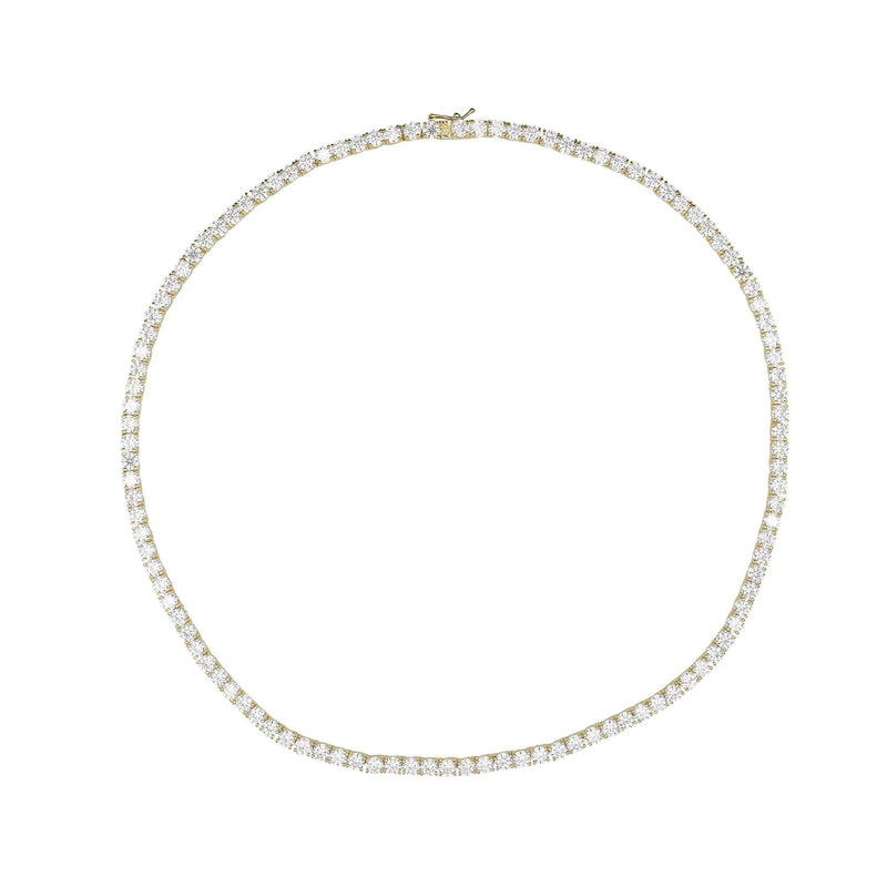 Ari&Lia PAPERCLIP COLLECTION 18K Gold Over Silver Tennis Necklace with Cubic Zirconia 9013-SS