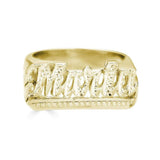 Ari&Lia Rings 18K Gold Over Silver Script Name Ring with Diamond Accent NR90622-GPSS
