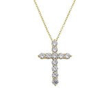 Ari&Lia Trendy 18K Gold Over Silver Cross With 1.5 CT Cbic Zirconia 11030-GPSS