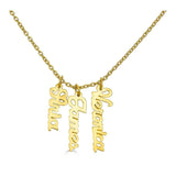 Ari&Lia Trendy 18K Gold Over Silver Script Vertical Mini Names P5003-SCRIPT-GPSS