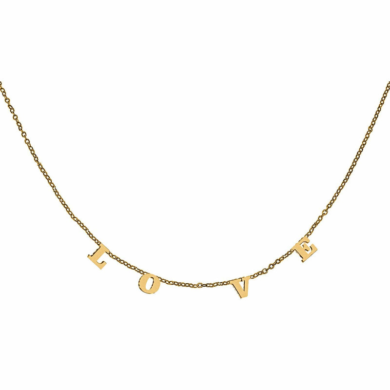 Ari&Lia Trendy 18K Gold Over Silver Trending Love Necklace 5500-LOVE-GPSS