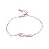 Ari&Lia Delicate 18K Rose Gold Over Silver Script High Polish Name Bracelet NB90580-RG