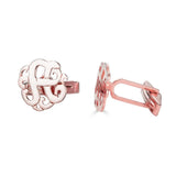 Ari&Lia MENS 18K Rose Gold Over Silver Script Initial Cufflinks ZCL560-RG