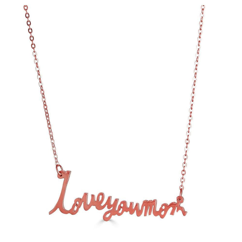 Ari&Lia Single & Trendy 18K Rose Gold Over Silver Signature Necklace with Link Chain NP5047-RG