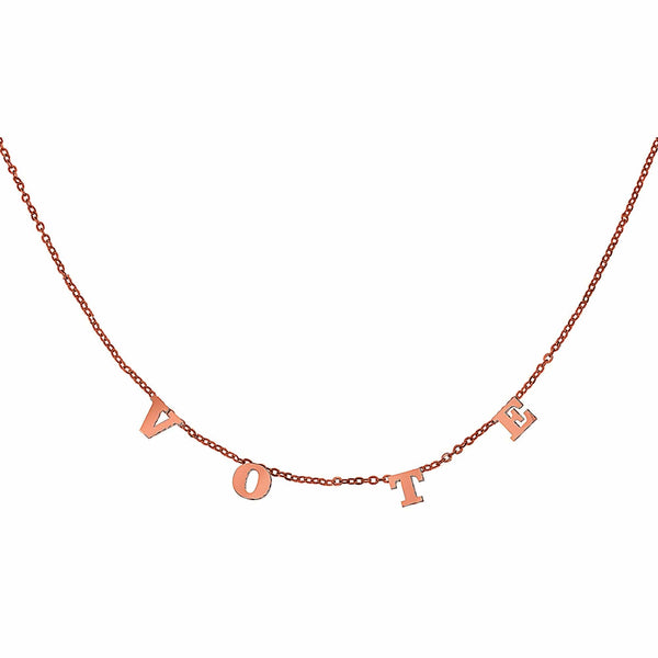 Ari&Lia Trendy 18K Rose Gold Over Silver Trending Vote Necklace 5500-RG-MO