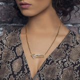 Ari&Lia Double Plated Necklaces Double Plated With Cross And Curb Chain
