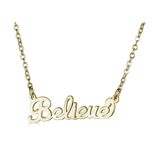 Ari&Lia empowered name necklaces Believe Empowered Name Necklace