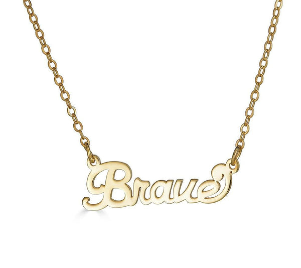Ari&Lia Empowered Name Necklaces Brave Empowered Name Necklace