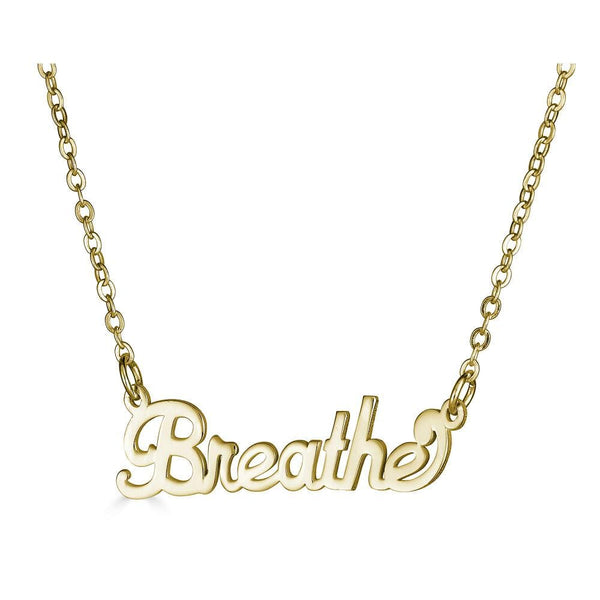 Ari&Lia Empowered Name Necklaces Breathe Empowered Name Necklace
